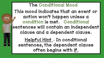 Verb Mood Complete Instructional Bundle - Common Core aligned