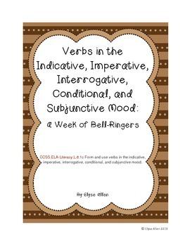 Verb Moods:  A Week of Bell Ringers