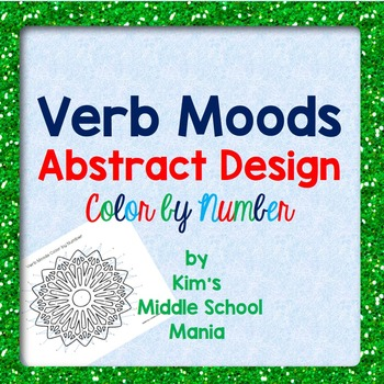 Verb Moods Color by Number