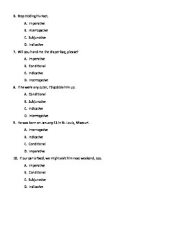 Verb Moods: Imperative, Indicative, Interrogative, Subjunctive, Conditional