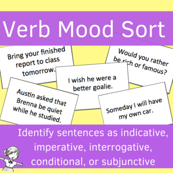 Verb Moods Sorting Game