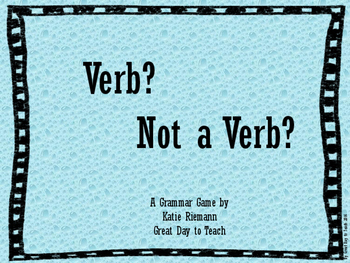 Verb? Not a Verb?
