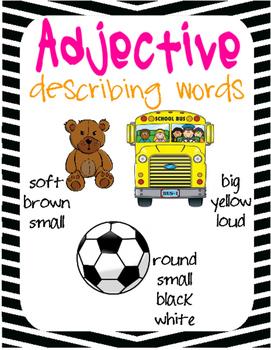 Verb, Noun, Adjective Posters!