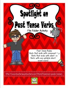 Verb Past Tense Rules File Folder Activity (CC Aligned)