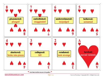 Verb Playing Cards