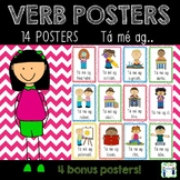 Verb Posters as Gaeilge - Tá mé ag... (with pictures)