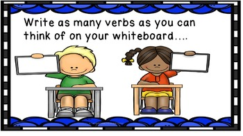 Verb Power Point Game and Quick Quiz