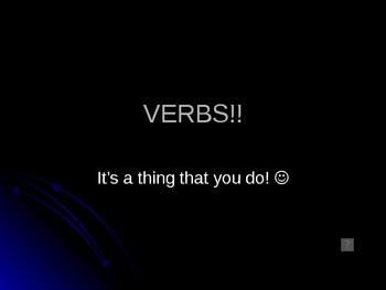 Verb Power Point Lecture