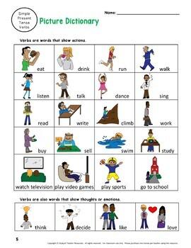 ESL Grammar Simple Present Tense ELL Verb Activities