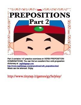Verb-Preposition Combinations for ESL Students APP