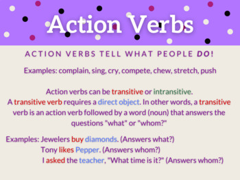Verb Presentation and Fill-in-the-Blank Student Notes