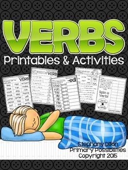 Verb Printable Activities