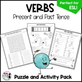 Verb Puzzles and Activities (Present and Past Tense)