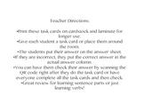Verb QR Code Task Cards