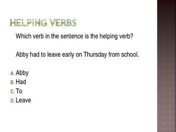 Verb Review Game