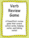 PowerPoint Verb Review Game: Action Verbs, Helping Verbs a