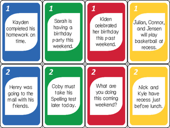 Verb SWITCH ELA Card Game