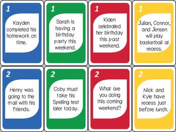 Verb SWITCH ELA Card Game