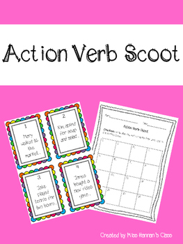 Action Verb Scoot