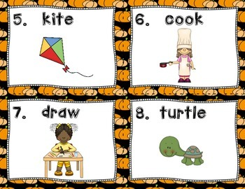 Verb Scoot- Halloween Version FUN GAME to Review Verbs