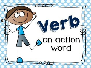 Verb Scoot/Task Cards + Poster
