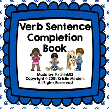 Verb Sentence Completion Book