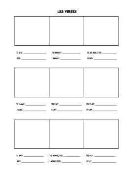 French Verb Sheet