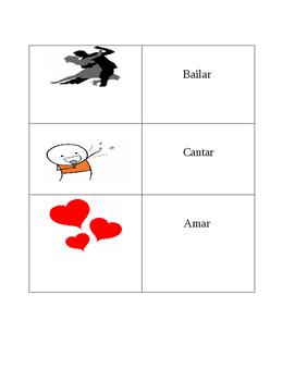 AR Regular Verb SlapJack or Match (-AR Verbs Only)