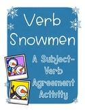 Verb Snowmen: A Subject-Verb Agreement Activity