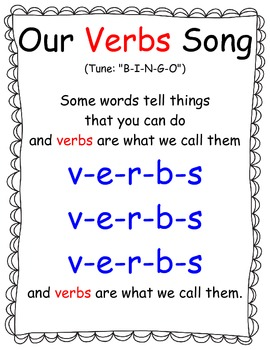Verb Song Big Book