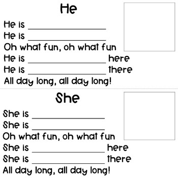 Verb Song Sing-A-Long!  He/She Pronouns and Verbs