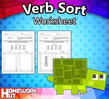 Verb Sort Worksheet