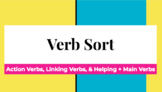 Verb Sort: Action, Linking, & Helping Verbs!