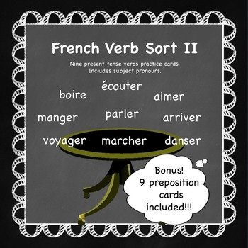French Verb Sort II