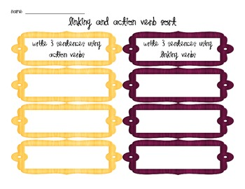 Verb Sort: Linking and Action