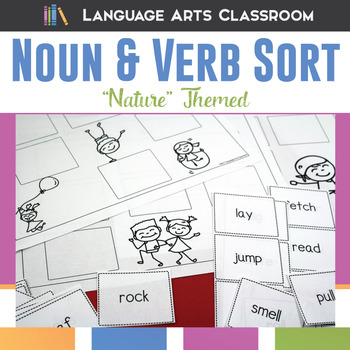 Noun and Verb Sort: Nature Themed