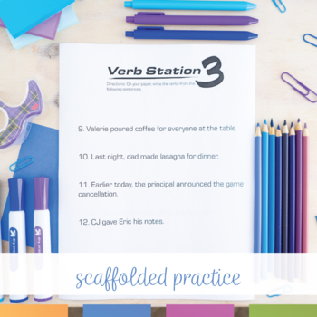 Verb Stations: Main Verbs and Helping Verbs