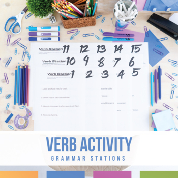 Verb Stations: Main Verbs and Helping Verbs