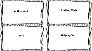 Verb Study Cards