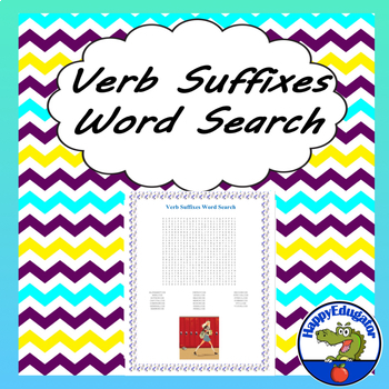 Verb Suffixes Word Search
