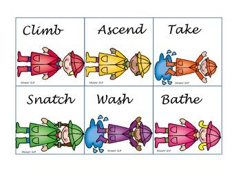 Verb Synonyms-Rain Kids Freebie