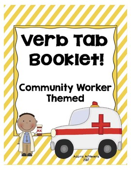 Verb Tab Booklet Community Worker Themed