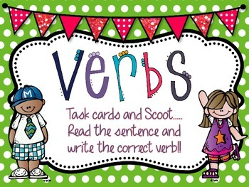 Verb Task Card