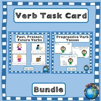 Verb Task Card Bundles