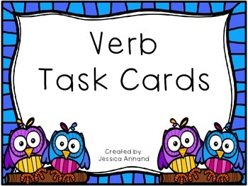 Verb Task Card SCOOT