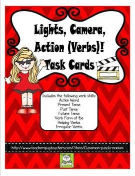 Verb Task Cards (CC Aligned)