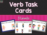 Verb Task Cards For Special Education and Speech Therapy (3 Levels)