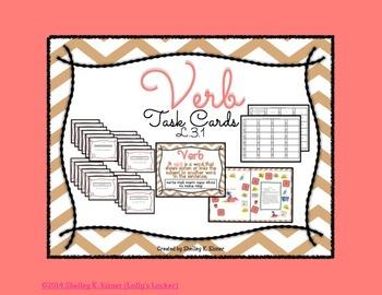 Verb Task Cards CC.L.3.1a