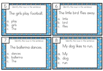 Verb Task Cards Differentiated