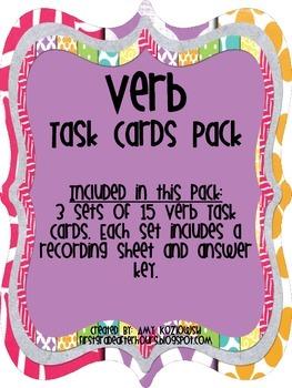 Verb Task Cards Pack